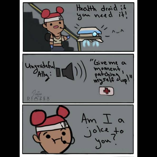 Apex Legends: Memes - Let me do my job and heal you...<sigh> image 1