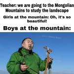 Boys at the mountain...