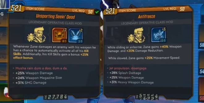 Borderlands: Awesome Items - Looking these items, I will exchange an item if you want one image 1
