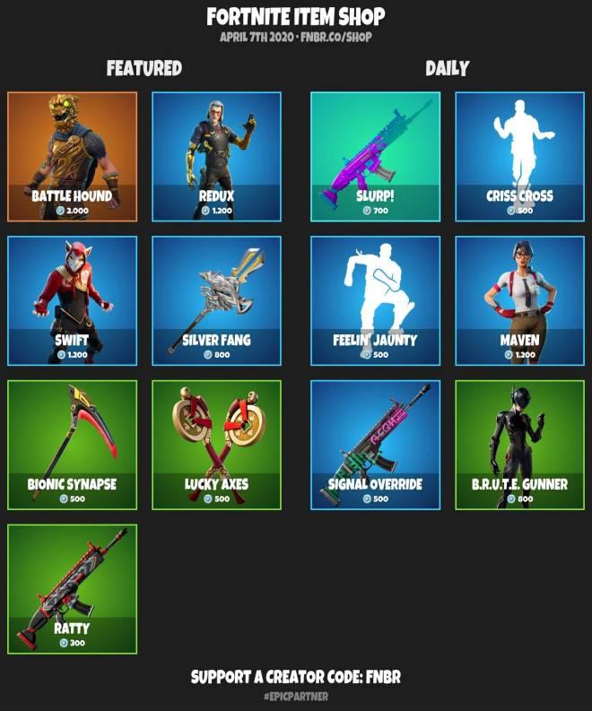 Fortnite: Battle Royale - Today item shop 4-6-20 image 3