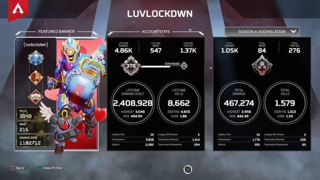 Apex Legends: General - I'm really not good at Apex... Show me your stats in the comments! image 2