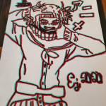 Himiko Toga (glitched) drawing