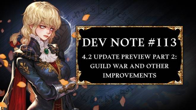 HEIR OF LIGHT: Dev Notes - Dev Note #113 - 4.2 update Preview Part 2 - Guild War and Other Improvements image 1