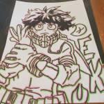 Glitched Deku drawing