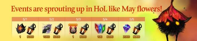 HEIR OF LIGHT: Event - [Event] May Special Events (4/30 ~ 5/5 CDT) image 1