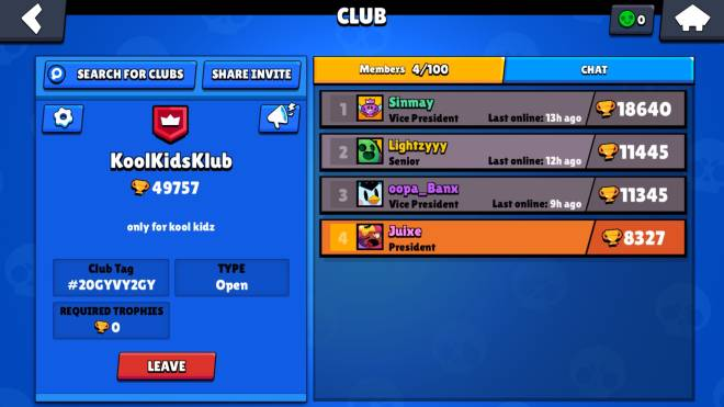 Brawl Stars: Club Recruiting - Looking for Active members, *NO MINIMUM* just be active - KoolKidsKlub image 2