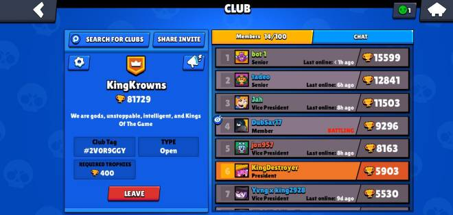 Brawl Stars: Club Recruiting - Anybody trying to help us reach 100,000 trophies yesss image 1