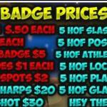 I'm a badge grinder there are the prices HMU ps4only