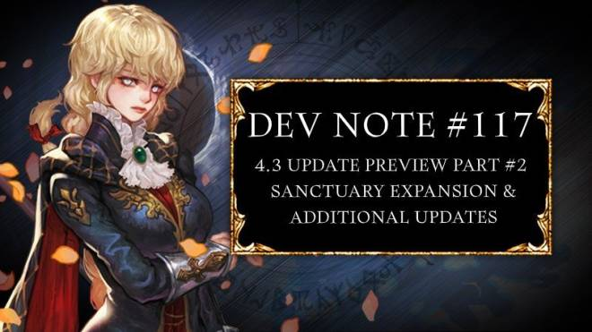 HEIR OF LIGHT: Dev Notes - Dev Note #117: 4.3 Update Preview Part #2:  Sanctuary Expansion & Additional Updates image 1