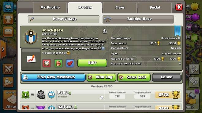 Clash of Clans: General - Join my clan #ClickBate even tho the rules are in Spanish we speak more English lmao image 1