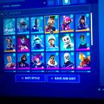 Selling Fortnite account with ikonik skin and glow skin and also royale bomber 20 dollar psn