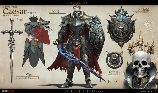 HEIR OF LIGHT: HoL 5★ Servant Concept Art - Leader of the Undertakers, Caesar image 1