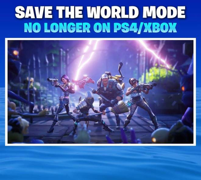 Fortnite: General - Fortnite Save The Word, No longer Available on Xbox/PS4 image 2