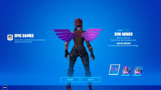 Fortnite: Battle Royale - New styles for SunBird ☀️ 🐦  image 1