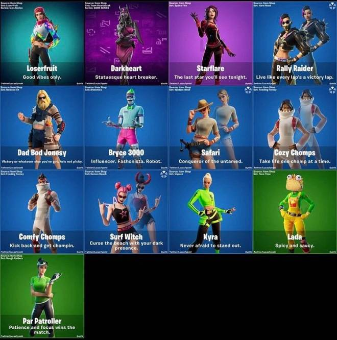 Fortnite: General - opinions on the leaked skins ?  image 1