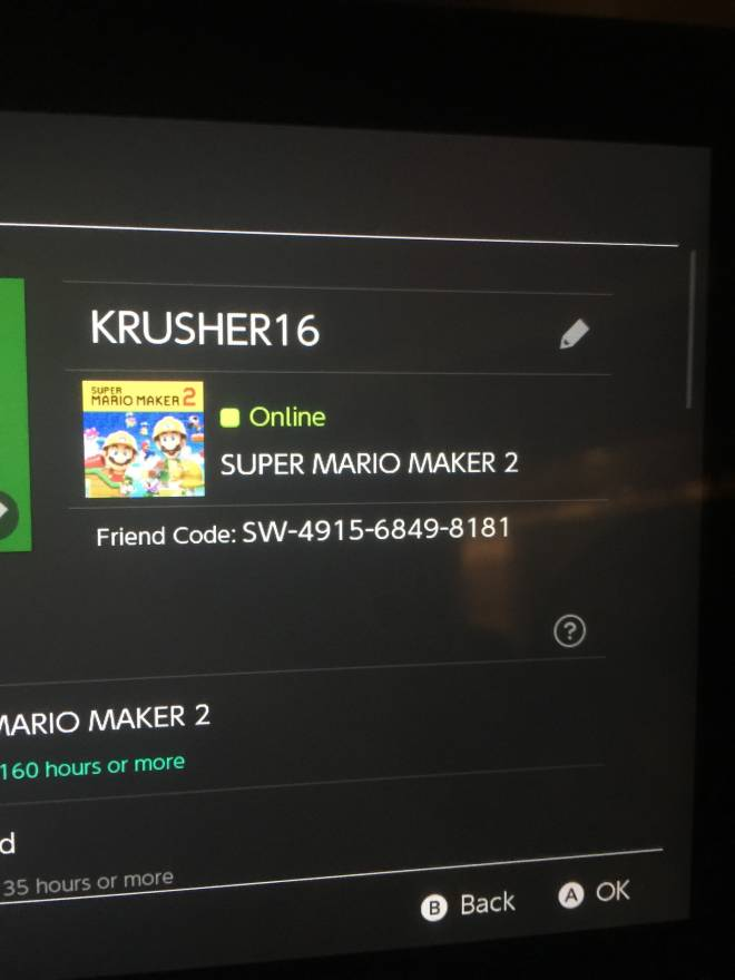 Mario Games: Super Mario Maker - Friend code if anyone wanna play with me image 1