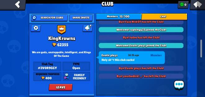 Brawl Stars: Club Recruiting - I've been receiving so much hate so help me get to 20 clan members plz image 1