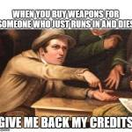 Don't buy weapons for unreliable people