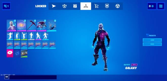 Fortnite: General - My brother gave me his galaxy skin account image 1