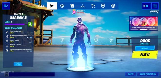 Fortnite: General - My brother gave me his galaxy skin account image 2