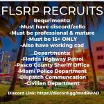 Florida State Roleplay. We are looking for cops and civs. As long as you meet the criteria you are w