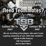 Recruiting for TSB
