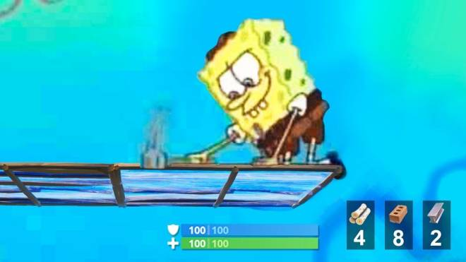 Fortnite: Memes - When you don't realize your low on mats and keep sprinting and building... image 1