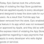 Fortnite removed from the apple app store!!