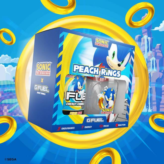 G Fuel: General - New GFUEL Flavor - Sonic's Peach Rings Tub & Shaker Is Out Now image 4