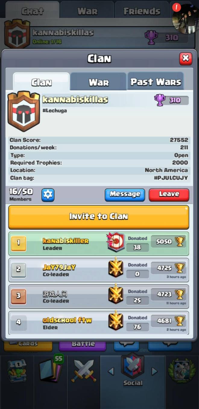 Clash Royale: Recruiting - Claah clan small clan looking for serious players  image 1