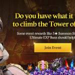[Notice] Do you have what it takes to climb the Tower of God? (8/24 ~ 9/21 CDT)