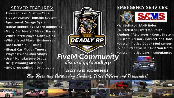 GTA: Promotions - DeadlyRP recruiting more RolePlayers!! image 2