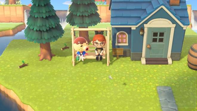 Animal Crossing: Posts - Does anyone else enjoy sitting with their villagers? I love sitting with them as they drink or read  image 5