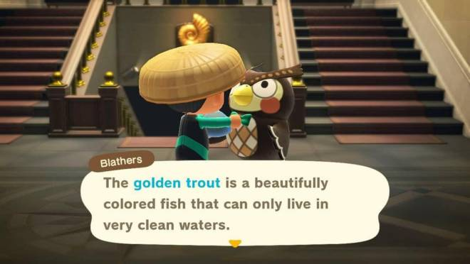 Animal Crossing: Posts - Catch of the Day! Golden Trout! image 2