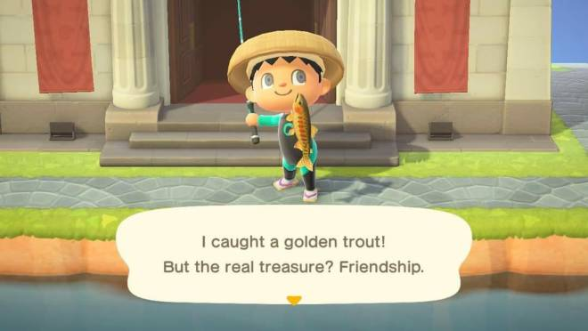 Animal Crossing: Posts - Catch of the Day! Golden Trout! image 1