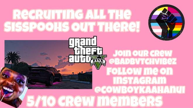 GTA: Looking for Group - Recruiting new crew members for GTA V!      - 5/10 Members remain in the crew     - Everyone's allo image 3