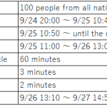 World war schedule notice(September)