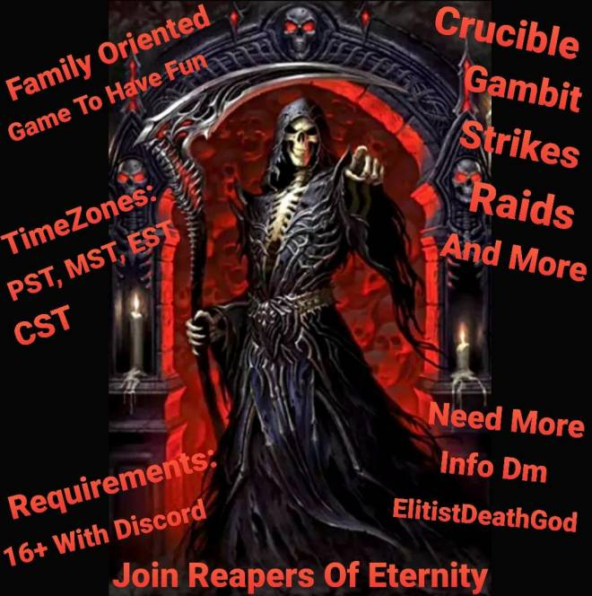 Destiny: General - Join Reapers Of Eternity  image 2