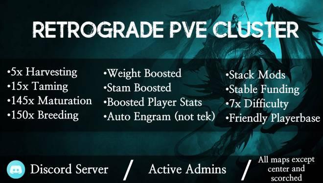 ARK: Survival Evolved: General - Retrograde PVE PS4 Cluster! image 2