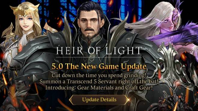 HEIR OF LIGHT: Update Preview & Patch Notes - 5.0 Update Patch Note image 1