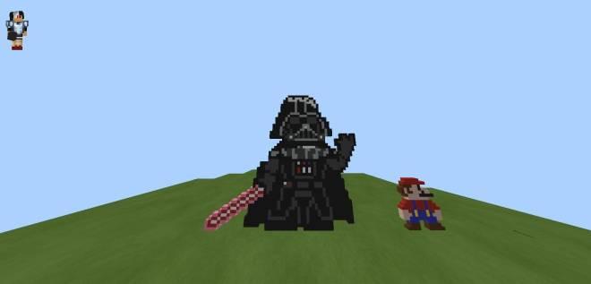 Minecraft: General - Pixel Art!![#2 DARK VADER!!] image 2