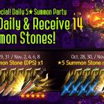 [Event] Halloween Special! Daily 5★ Summon Party - Log in Event! (10/27 ~ 11/09 CDT)