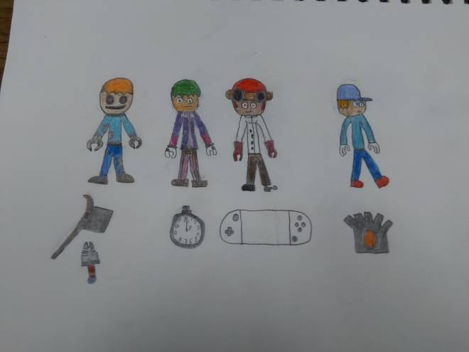 Entertainment: Art - Glitchverse Official S1 original character color image 2