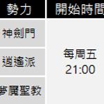 3勢力團隊戰(11/19更新)