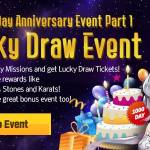 [Event] 1,000th Day Anniversary Event Part 1: Lucky Draw Event (11/10 ~ 12/7 CST)
