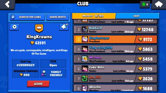 Brawl Stars: Club Recruiting - Were the Kings Of This Game.Join us and y'all be one too. image 1