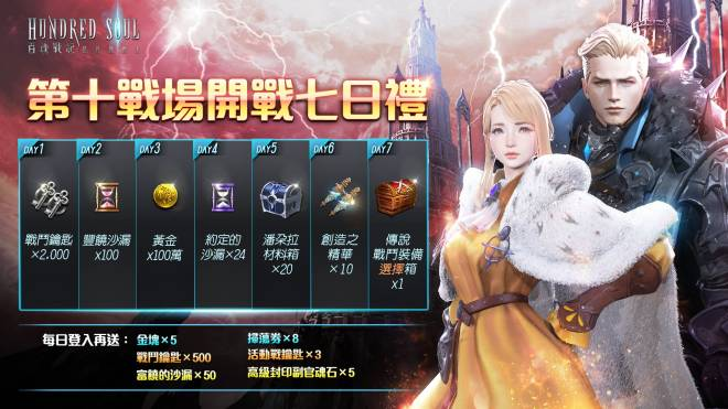 Hundred Soul (TWN): 公告 - 第十戰場「劫火峽谷」 正式開戰! image 3