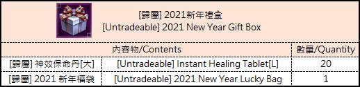 十二之天M: 活動 - 0112 2021年新年活動 image 2