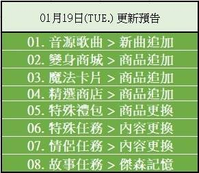 勁舞團M: 系統公告 - 《定期維護》01月19日(TUE.) 更新預告 image 2
