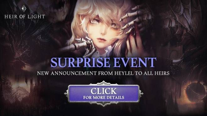 HEIR OF LIGHT: Event - [Event] Surprise Log In Event (2/10 ~ 2/14 CST) image 1